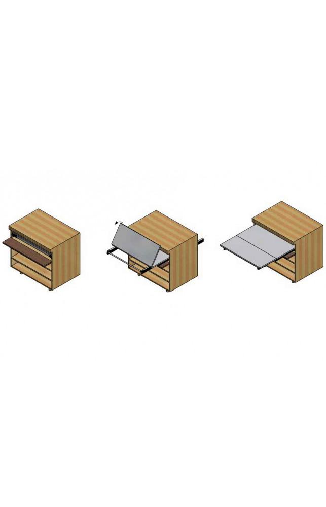 Выдвижной стол из базы cистема Siesta